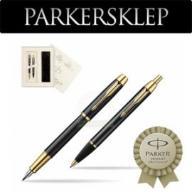 Zestaw Parker pióro + długopis IM Czarny GT 104S