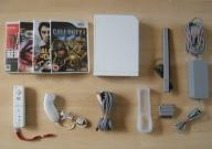 Nintendo Wii konsola + 4 gry Manhunt Call of Duty