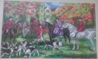 konie polowanie haft krzyżykowy obrazy hubertus