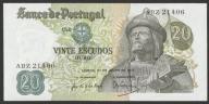 Portugalia - 20 escudos - 1971 - stan bankowy UNC