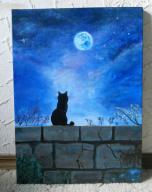 "Obraz akrylowy ""Kot na murku"