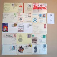 Karty pocztowe kas. okol. MIX BCM!! (K34)