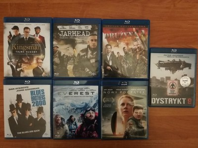 Blu Ray 7 sztuk Nowy Początek Kingsman Jarhead