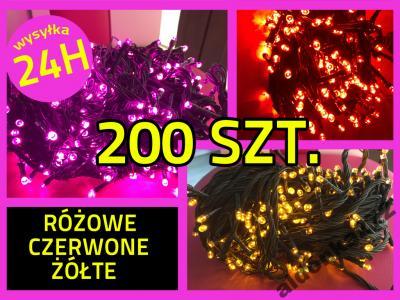 LAMPKI CHOINKOWE 200LED GRUBY KABEL 15M ZEW/WEW !
