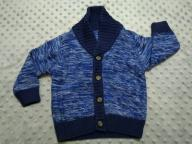 Mothercare - granatowy rozpinany sweter r.68 - BDB