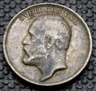 SZWECJA - 1907 OSKARA II - SREBRO śr 15 mm