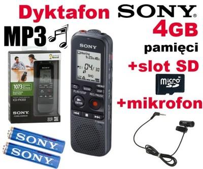 Dyktafon cyfrowy z mikrofonem SONY ICD-PX333M 4GB