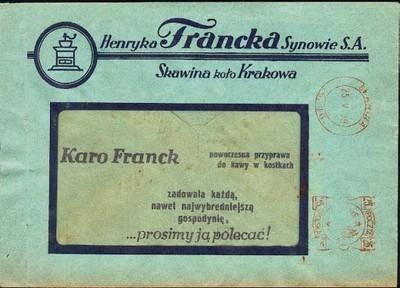 Frankatura mech., Skawina - 1939, A46, H Francka