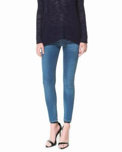 Spodnie jeansy ZARA DENIM 36 nowe rurki S