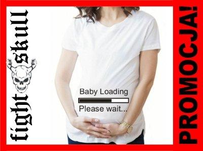 8152751e667ebc KOSZULKA CIĄŻOWA BABY LOADING PLEASE WAIT DLA MAMY - 6481623695 ...
