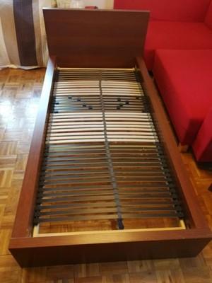 Rama łóżka Malmikea Metrac Jyskstelaż Ikea 6881030902