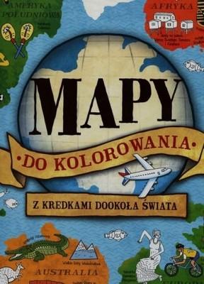 Mapy do kolorowania Z kredkami dookoła świata - Op