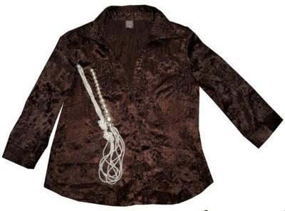 12cc87ff0c TU ELEGANCKA wizytowa bluzka ażur satyna 44 - 6117451769 - oficjalne ...