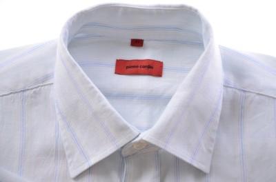PIERRE CARDIN koszula krótki rękaw len k 41