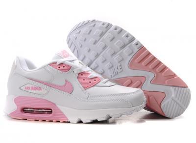 przed Sprzedaż oferować rabaty najnowsza zniżka Buty Nike Air Max 90, biało różowe, skóra