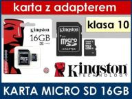 Karta micro SD klasa 10 KINGSTON 8 16 32 64 GB