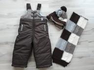Spodnie zimowe Wójcik r.80 czapka i szalik