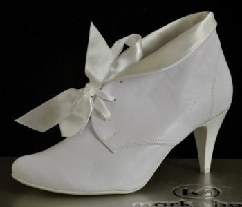 bc566ade Nowe Buty botki ślubne 7,5cm zima zimowe białe 38 - 5077979403 ...