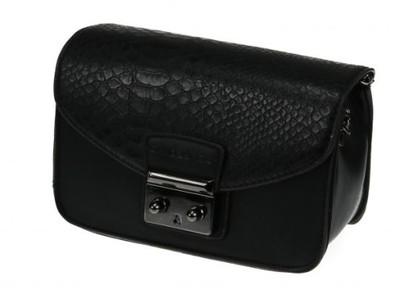 7bb07c3bc9fe0 Mała czarna torebka wizytowa elegancki kuferek - 6723869970 ...