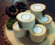 Świeczniki drewniane z brzozy najtaniej WYPRZEDAŻ