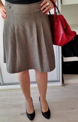 plisowana spódnica spódniczka mini w pepitke xs s 34 36