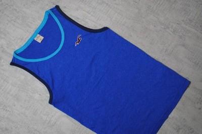 HOLLISTER__niebieska koszulka__logo__M/L_