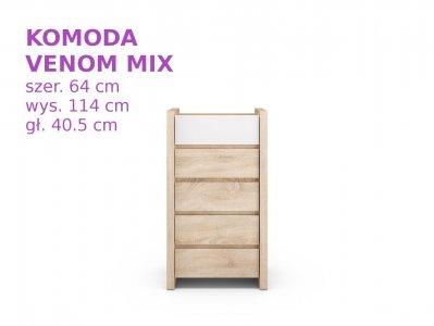 Komoda Venom Mix Black Red White 30 Taniej 6515380444