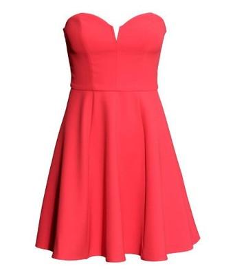 b94b928b89 Czerwona sukienka gorset dekolt H M divided 38 - 6658947494 ...
