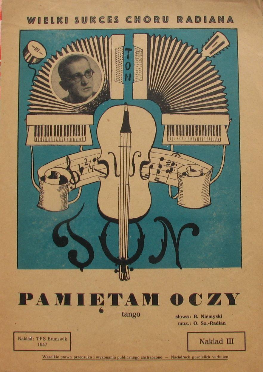 PAMIĘTAM OCZY  -TANGO -  NIEMYSKI/ RADIAN