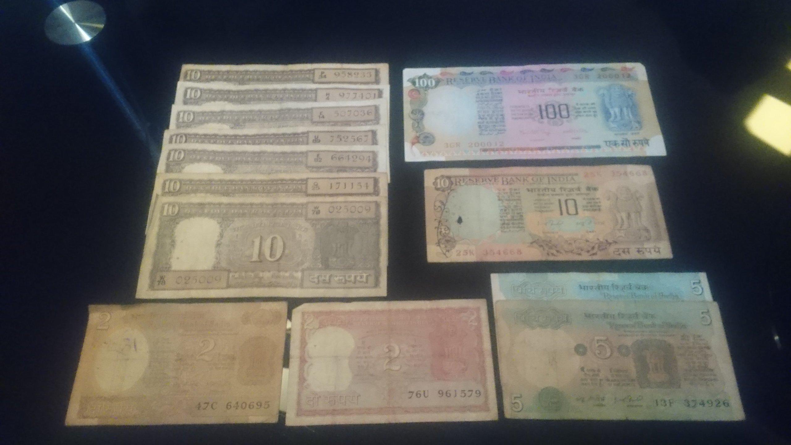 INDIE - Zestaw Banknotów rupie indyjskie