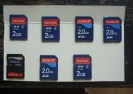 Karta pamięci SD Sandisk 2 GB, 7 sztuk