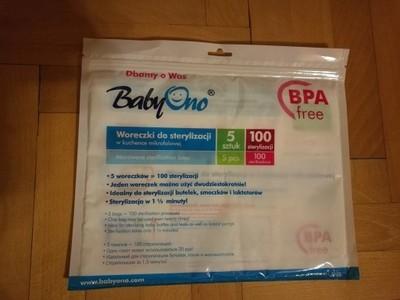 BabyOno woreczki do sterylizacji w mikrofali