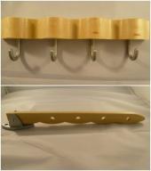 Wieszak ścienny + drążek na wieszaki IKEA