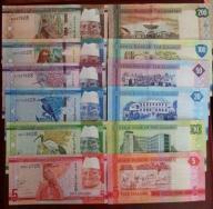 GAMBIA ZESTAW 5+10+20+50+100+200 Dalasi 2015 UNC