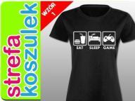 Koszulka dla gracza Śmieszne KOSZULKI Damska S