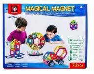 KOLOROWE KLOCKI MAGNETYCZNE MAGICAL MAGNET 71 SZT