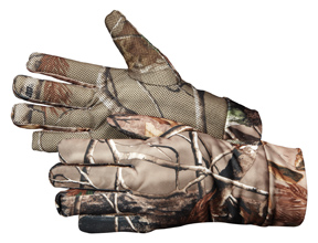 Ocieplane rękawiczki Spandex kamuflaż leśny XL