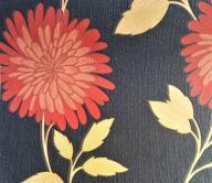 TAPETA TAPETY ŚCIENNE czerwone kwiaty FIZELINA