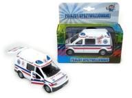 Auto metal ambulans dźw/św karetka pogotowia 13cm