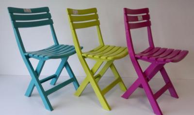 Krzesło Ogrodowe Składane Plastikowe Zielone Hit