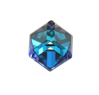 Swarovski - 4841 Angled Cube Bermuda Blue 4mm