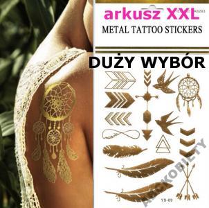 Metaliczne Tatuaże Złote Srebrne Flash Tattoo 5735222873