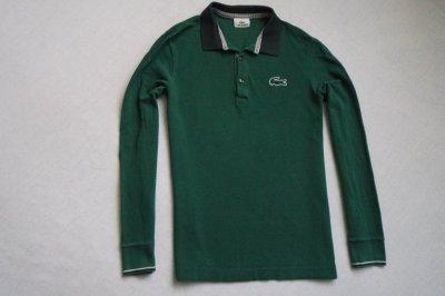 LACOSTE koszulka polo zielona logowana markowa___S