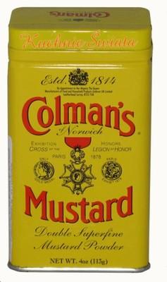 [KŚ] Musztarda w proszku Colman's 113g. OSTRA!