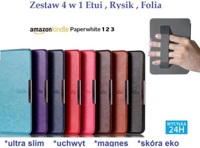 4W1 Futerał ETUI KINDLE PAPERWHITE 1 2 3 MAGNES GR
