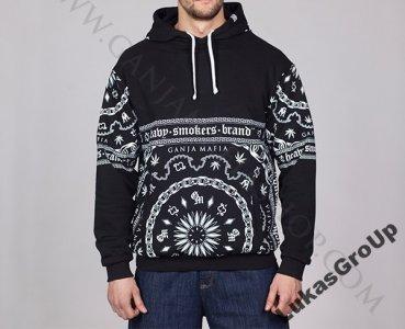 styl mody różnie całkowicie stylowy Bluza GANJA MAFIA BIG BANDANA Black /White r.L - 6040815629 ...