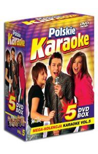 POLSKIE KARAOKE vol.5 PRZEBOJE MEGA KOLEKCJA 5xDVD