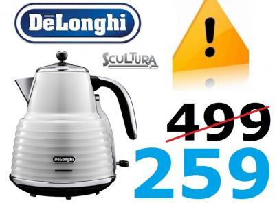 Czajnik Delonghi KBZ3001W SCULTURA 3000W 1,7L