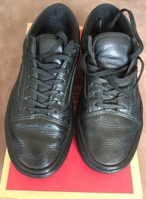 Oryginalne czarne skórzane trampki Vans r.37