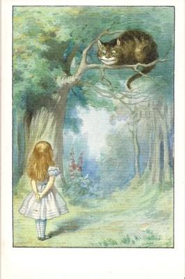 Pocztówka Alicja W Krainie Czarów Bajka Kot Anglia 6700105547